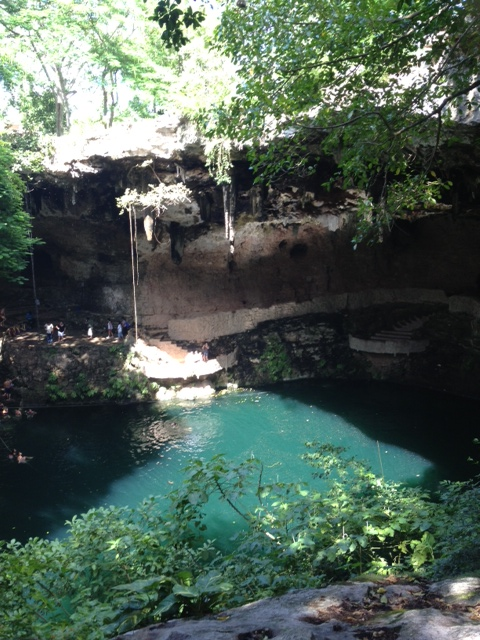 Zaci Cenote was formed from a meteor that dropped 65 million years ago