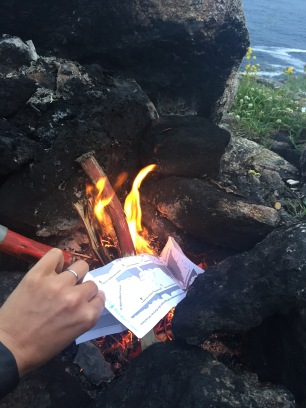 Burning the map I held onto for 4 years