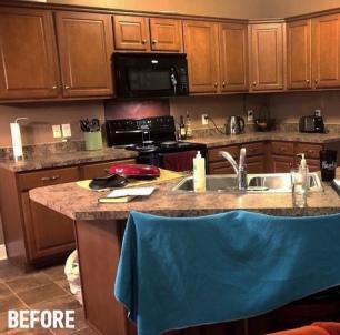 Before: solemn kitchen